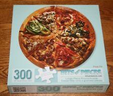 """Bits and Pieces Puzzle 300 Piece Pizza Pie Round Puzzle 20"""" EUC"""