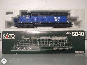 KATO 37-6326 HO SCALE #210 I&M RAIL LINK EMD SD40 DIESEL LOCOMOTIVE W/BOX/INSERT