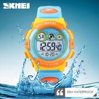 SKMEI Kids Sports Watch 50m Waterproof Children Alarm Digital Wristwatch 1451 0
