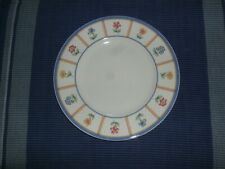 Nine  China Salad Plates by Villeroy & Boch, Julie Pattern, Flowers Pansies
