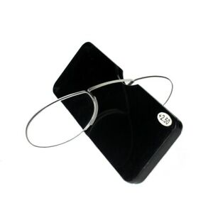 Kcasa Nose Clip Unisexe Reading Lunettes Portable Wallet sans Cadre Reader Mini