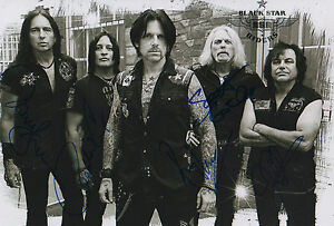 Black Star Riders full signed 8x12 inch photo autographs