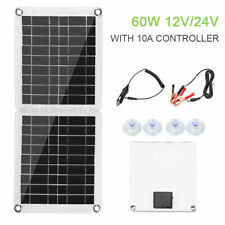 60W 12V USB Foldable Solar Panel Battery Charger Kit Boat Car  10A Controller