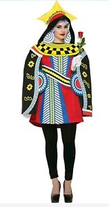 Ladies Queen Of Hearts Playing Card Fancy Dress Costume