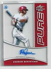 Andrew Benintendi 2015 Leaf Trinity Pure Glass Red Autograph 1/5 Red Sox *First*