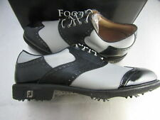 Footjoy Myjoys Icon Shield Tip Golf Shoes Grey Black Patent 11 2X Ee