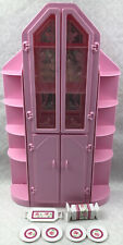 Vintage 1987 Barbie Sweet Roses Pink China Cabinet Curio Cabinet Dining Room
