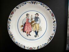 Rorstrand Swedish National Costumes Porcelain Plate Medelpad Sweden - Rare HTF!