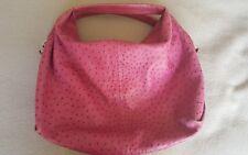 Furla Elisabeth ostrich embossed handbag - raspberry