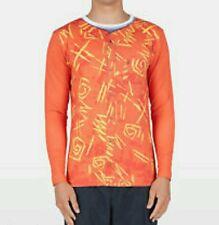 New listing Volcom Sz S Orange Brocolli Rash Guard Thrashguard Long Sleeve Shirt Anti-Uv