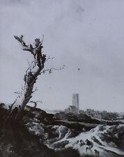 """View of Egmond-on-the-Sea"", Jacob van Ruisdael, Magic Lantern Glass Slide"