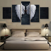 5pcs ANGEL WINGS Print Picture Art Pictures Canvas Wall Art Unframed Home Decor