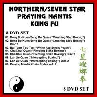NORTHERN/SEVEN STAR PRAYING MANTIS KUNG FU COMPLETE SERIES 8 DVD SET 7 star jkd