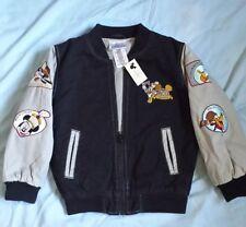 Disneyland Disney 50th Anniversary Baseball Jacket Mickey Mouse Shag Youth S