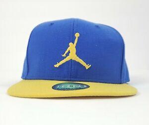 Air Jordan True Snapback Adjustable Blue and Highlighter Yellow Hat