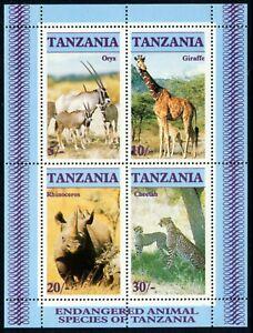 TANZANIA - 1986 'ENDANGERED SPECIES' Miniature Sheet MNH SG483 [A8467]