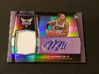 PJ Washington 2019-20 OBSIDIAN 228 Purple 05/75 Rookie Patch Auto RC RPA Hornets