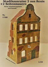 Neu Für Diorama Nr.1768 schöne Stadthausruine2 + 2 Seitenmauern 1:35  aus Resin