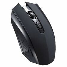 Wireless gamer Mouse 1600dpi PC Laptop Kabellose Gaming Funkmaus Maus schwarz