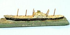 HOLLAND AMERICA CARGO LINER PASSENGER SHIP OLD PAINTED METAL MODEL PAPERWEIGHT