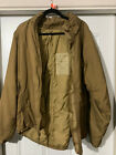 USMC Extreme Cold Weather Parka Coyote Happy Suit Small Primaloft - Stained/Tear