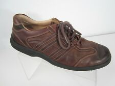 J & M Sheepskin Mens Sz 9.5 M Leather Shoes Brown Casual Lace Up