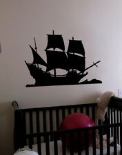 Vinyl Wall Decal Sticker Pirate Sail Ship Decoration