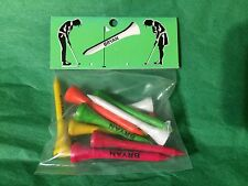 Set of 10 Golf Tees Personalized BRYAN Stocking Stuffer Office Gift