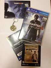 Uncharted 4 Pre-Order Bonus Gift Coin Keychain Poster Golden DLC Skins EXCLUSIVE