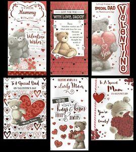 MUMMY, DADDY, MUM  or DAD ~ Quality  VALENTINE'S DAY CARD ~ Valentines
