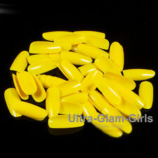 500pc YELLOW - STILETTO LONG GLUE-ON/FULL ACRYLIC NAILS/CROSSDRESSER/DRAG QUEEN