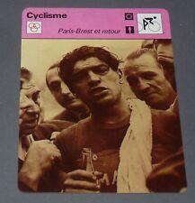 FICHE CYCLISME 1951 MAURICE DIOT PARIS-BREST WIELRIJDER CICLISMO