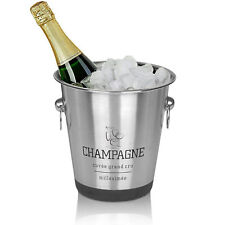 Stainless Steel French Silver Champagne Wine Punch Drink Ice Cooler Party Bucket