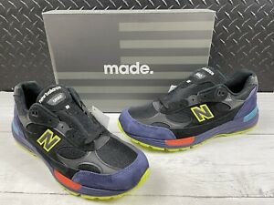 New Balance 992 Black Purple Green Shoes M992LT Men's Size 12 NEW