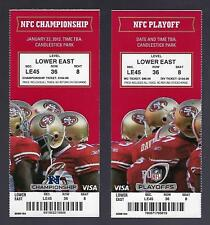 2011-12 NFL NFC PLAYOFFS SAINTS GIANTS @ 49ERS FULL UNUSED FOOTBALL TICKETS (2)