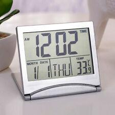 Digital LCD Weather Station Folding Alarm Clock Desk Temperature Travel best