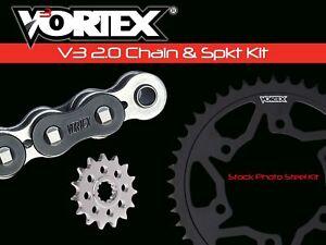 V3 Chain & Sprocket Kit Black SX Chain 525 15/43 Hardcoat Aluminum Vor. CK2755