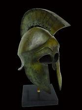 Helmet Solid Bronze Ancient Greek replica artifact