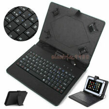 "US For Samsung Galaxy Tab A E 7"" 8"" Tablet USB Keyboard Leather Folio Case Cover"