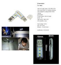 Lampe USB LED 50000 Heures (Fonctionne sans pile) Pour lire CAMPING, lit etc...
