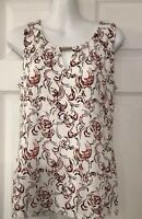 White House Black Market Sleeveless Multicolor Blouse Size Small