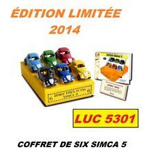 COFFRET DE SIX SIMCA 5 ÉDITION LIMITÉE DE 2014 #35A PAR  DINKY TOYS / ATLAS