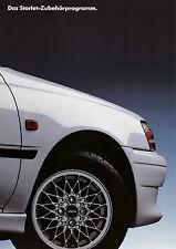 Toyota Starlet Zubehör Prospekt 7 94 brochure 1994 Auto PKWs Japan Autoprospekt