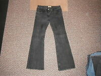 "George Bootcut Jeans Size 12 Leg 30"" Black Faded Ladies Jeans"