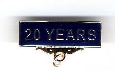 20 YEARS Pin. Service Award Title Badge With Blue Background