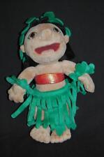 "Disney Lilo Hawaiian Hula Sufer Girl Stitch Stuffed 10""  Plush Lovey Rare Doll"