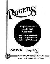 ROGERS Circuit Diagrams * Canadian Radio Corp * CDROM * PDF