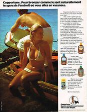 PUBLICITE ADVERTISING 015  1973  COPPERTONE  creme solaire