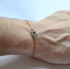 Men's bracelet, silver Star of David bracelet for men, brown, gift, Judaica