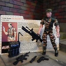 GI JOE ~ 2003 LT. FALCON GREEN BERET ~ OPERATION ANACONDA JOECON ~100%  & card